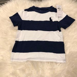 NWT Ralph Lauren striped tee (18 mo)